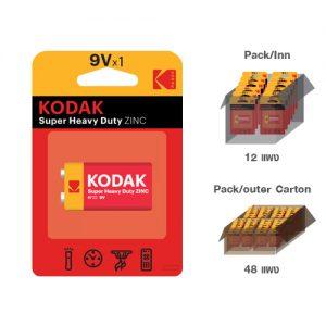 KODAK ZINC EXTRA HEAVY DUTY 9v (1 pack)