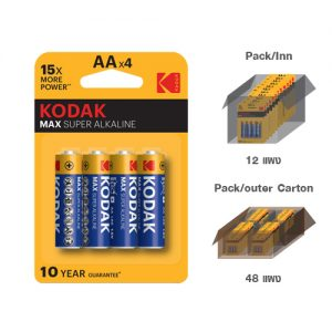 KODAK MAX SUPER ALKALINE AA battery (4 pack)