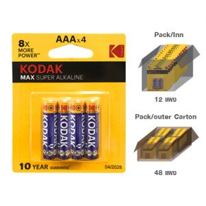 KODAK MAX SUPER ALKALINE AAA battery (4 pack)