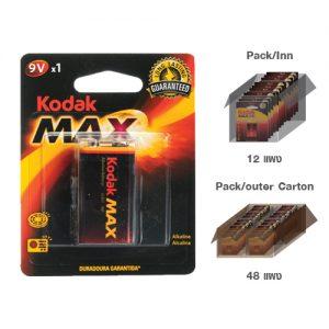 KODAK MAX SUPER ALKALINE 9V (1 pack)