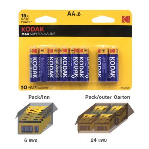 KODAK MAX SUPER ALKALINE AA battery (8 pack)
