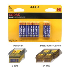 KODAK MAX SUPER ALKALINE AAA battery (8 pack)